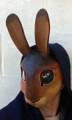Rabbit mask better by missmonster on DeviantArt