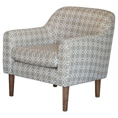 Winston Retro Chair - Grey and White Pattern - Christopher Knight Home