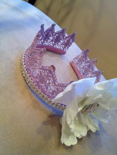 Handmade lace crown headband by LeBoutiqueAngelique on Etsy