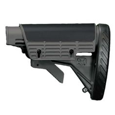 ATI AR-15 Strikeforce Stock with Scorpion Razorback Recoil Pad and Adjustable Cheekrest Destroyer Gray A.2.40.1221, $30