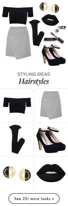 """ Gotta get him out my hair"" by fashionidea5 on Polyvore featuring American Apparel, Chanel, Lime Crime, Yves Saint Laurent and Bobbi Brown Cosmetics"