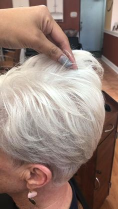 Grandma Quotes Discover Undercut hairstyle on the sides and back razor cut on top Short Hair Over 60, Short Hair Older Women, Short Thin Hair, Short Hairstyles For Thick Hair, Haircut For Older Women, Haircuts For Fine Hair, Short Hair With Layers, Older Women Hairstyles, Short Hair Styles