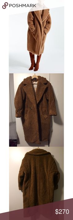 New Customized Oversized Teddy Bear Coat Sz L Brand new never worn teddy coat featuring beautiful cocoon styled sleeves and is made of wool!😍 looks amazing with maroon boots and scarfs😍 meant to be Oversized and the chest measurement is 45 inches, so I'd suggest this for size S or M, or even XS! Notice some over sized jacket has 55 inches chest measurement for size S, and that's how it suppose to fit. ‼️NOT BRAND LISTED‼️Feel free to ask any questions and feel free to offer!😘 Asos Jackets…