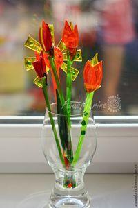 Комплекты аксессуаров ручной работы. Ярмарка Мастеров - ручная работа Тюльпаны. Handmade.