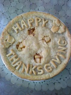 Apple Pie - I like to cut out shapes and letters from leftover crust to add a little something extra