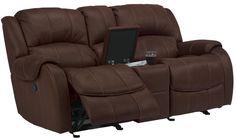 Flexsteel Furniture: Latitudes Pure Comfort Collection featuring dual gliding reclining loveseat with console,  double reclining loveseat with console, double reclining sofa and glider recliner. #interiordesign #sofa #recline