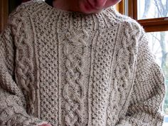 Ravelry: Project Gallery for St. Enda pattern by Alice Starmore Aran Sweaters, Lana, Ravelry, Alice, Pullover, Knitting, Boys, Pattern, Tunics