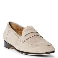 Chessington Suede Penny Loafer - Ralph Lauren Dress - RalphLauren.com