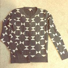 cardigan Gray cardigan worn few times. Good condition. Front panel, sleeves 100% cotton. Back panel 92% cotton, 6% nylon, 2% spandex. no trade Merona Sweaters Cardigans