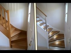 Renov 'Escaliers / Presentation of a staircase renovation in Normandy (wood staircase cladding) Staircase Wall Decor, Wood Staircase, Stairway Lighting, Interior Stairs, Home Staging, Cladding, Interior Decorating, Sweet Home, Stairs