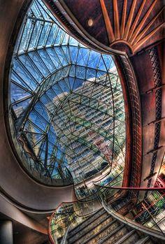 architectural shot taken in Burj Juman shopping mall, Dubai, UAE