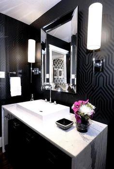 Decoração preto no branco por Thereza Chammas | Fashionismo - http://modatrade.com.br/decora-o-preto-no-branco