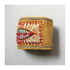 simply beautiful embroidered cuff