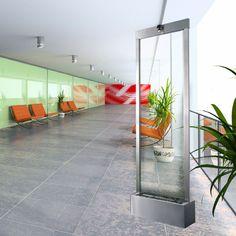 Medium Brushed Stainless Steel Gardenfall Floor Fountain  GF6SG