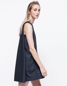 Need Supply - Boatneck Open-back Dress