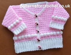 Free baby crochet pattern for scooped neck cardi http://patternsforcrochet.co.uk/scoop-neck-cardigan-usa.html #patternsforcrochet: