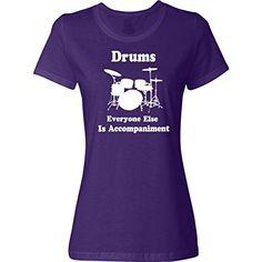 fba27d14e1 Inktastic Funny Drummer Player Women s T-Shirt Small Purple inktastic  http   www