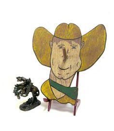 Wood Cowboy Ring Toss Game Vintage 1940s Folk Art by CoconutRoad, $44.00