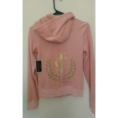 Brand new Juicy Couture hoodie jacket Brand new Juicy Couture pink hoodie jacket with gold accent design. Warm and comfy plus super cute! Tag says small but can also fit XS.  #brandnew #juicycouture #pinkjacket #hoodiejacket #neverworn Juicy Couture Jackets & Coats