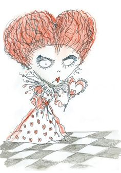 """""""off with their heads!"""" ---sketch by Tim Burton"""
