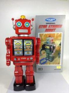 Tin Toy STAR STRIDER ROBOT Original HORIKAWA 1980s Red Battery Operated JP 423 #HorikawaToy