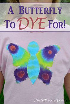 Tie Dye Butterfly T-shirt DIY