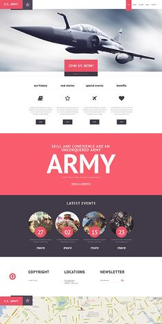 U.S.Army WordPress Template 47525 on Behance