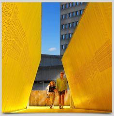 """See 72 photos and 3 tips from 454 visitors to De Luchtsingel. """"You will have a nice view over the Hofplein and Coolsingel. Rotterdam Architecture, Gros Morne, Pedestrian Bridge, Best Cities, Nice View, Cool Places To Visit, Holland, Skyline, Europe"""