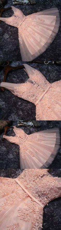 Short Prom Dresses, Lace Prom Dresses, Pink Prom Dresses, Prom Dresses Short, Short Pink Prom Dresses, Prom dresses Sale, Lace Homecoming Dresses, Short Homecoming Dresses, Pink Lace dresses, Lace Up Prom Dresses, Belt/Sash/Ribbon Party Dresses, Mini Prom Dresses