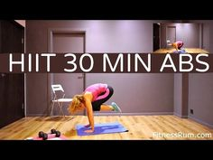 RU66-18 Minute Abs Workout Toned Core And Total Body Fat Burning Exercises Level 2 - YouTube