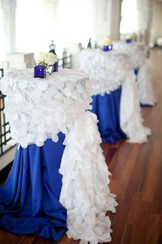 Royal blue, also-love these tables!