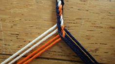 acht draden vlecht drie kleur