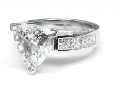 Trillion Diamond Bridal set Engagement Ring in White Gold Trillion Engagement Ring, Engagement Jewelry, Engagement Ring Settings, Diamond Engagement Rings, Wedding Jewelry, Trillion Ring, Mom Ring, Thing 1, Bridesmaid Jewelry Sets