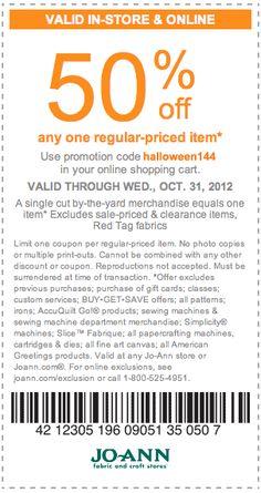 JoAnn Fabric coupon