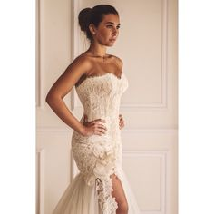 #The ever so beautiful Nermine Wahbe in her Maison Yeya gown. Congratulations.