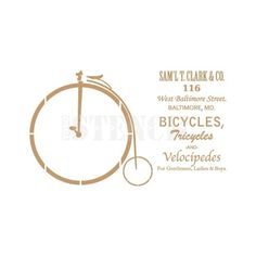 stencil deco vintage composición 155 bicicleta