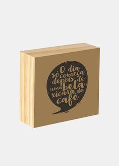 Box ilustrado - O dia só começa depois de uma bela xícara de café