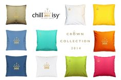 chillisy® CROWN COLLECTION 2014 | indoor & outdoor www.chillisy.eu relax@chillisy.eu Indoor Outdoor, Bed Pillows, Pillow Cases, Relax, Crown, Collection, Home, Self, House