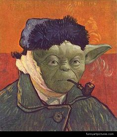 vincent van gogh ear jokes | Classic pop-art, Vincent van Gogh Yoda , Vincent Willem van Gogh Self ...