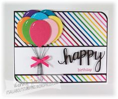 I'm UP for some COLORtoday! (teeheehee) I have a granddaughter that's having a birthday this month. I think she might like this colorful card.   Here's What I Used: Stamps:Happy Sta...