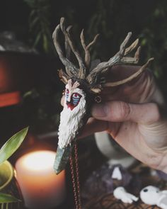 Heres a better look at the Forest Spirit from Princess Mononoke sculpted from polymer clay | TheDeepForest.org
