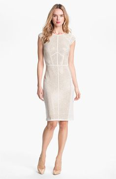Studly: Rebecca Taylor 'Nailhead' Studded Knit Sheath Dress available at #Nordstrom