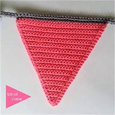 Bit of Color: Feestje Crochet Chart, Diy Crochet, Crochet Patterns, Crochet Bunting, Crochet Curtains, Baby Jokes, Crochet Triangle, Crochet Home Decor, Newborn Crochet