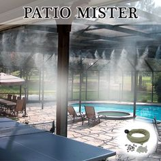 Patio Mister 75 feet Patio Misting System, Diy Patio, Backyard Patio, Backyard Landscaping