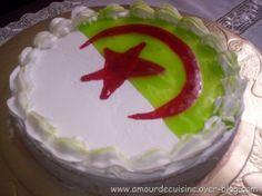 recette du gâteau Drapeau Algérien - par amour de cuisine