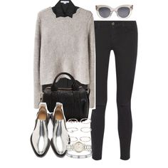 Sin título #2359 by hellomissapple on Polyvore featuring T By Alexander Wang, Alexander Wang, Frame Denim, Paco Rabanne, Burberry, Forever 21 and CÉLINE