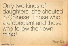 A quote from Two Kinds by Amy Tan. This is where we understand how the story received it's title. Very Important!!