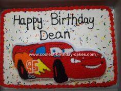 Cars Lightning Mcqueen 12 sheet cake Cake inspiration