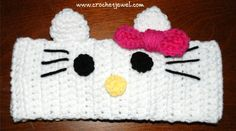 Crochet Hello Kitty headband  FREE CROCHET pattern!« The Yarn Box