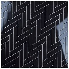 EliteTile Retro Soho x Porcelain Subway Tile Soho, Chevron Bathroom, Black Interior Doors, Best Floor Tiles, Herringbone Tile, Black Tiles, Bathroom Flooring, Tile Design, Retro